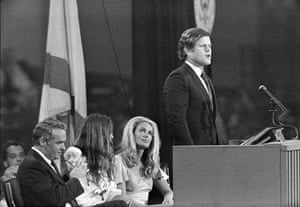 Edward Kennedy: 1972: Kennedy introduces Democratic presidential nominee George McGovern
