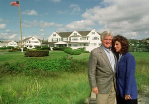 Edward Kennedy: 1992: Edward Kennedy stands with his wife Victoria Reggie Kennedy