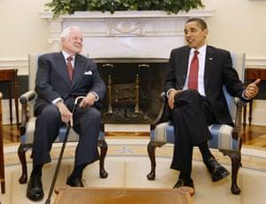 Edward Kennedy: 2009: President Barack Obama meets with Edward Kennedy