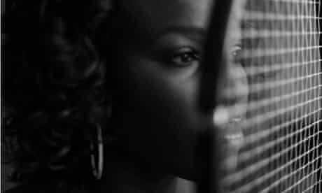 Serena Williams B&W portrait