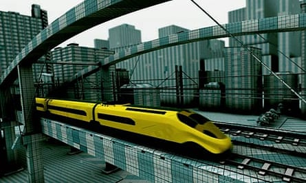 Concept image of how a new high-speed rail line might look.