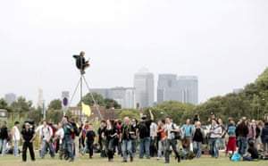 Camp for Climate Action :  protesters begin setting up the Climate Camp on Blackheath green, London