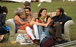 Camp for Climate Action : Climate Change Campaigners on Blackheath green