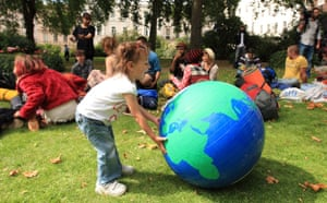 Camp for Climate Action : Protesters in St James Park, London