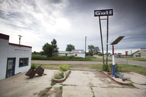 Route 66 Day 2: A derelict Gulf filling station in McLean, Texas, a ghost town on Route 66