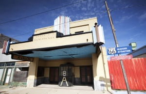Route 66 Day 2: The Avalon picture house, in McLean, Texas, listed as a Route 66 attraction
