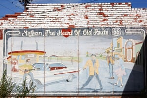 Route 66 Day 2: A mural in McLean, Texas