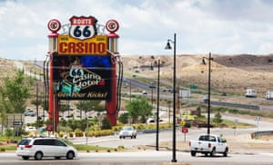 Route 66 Day 3: The Route 66 Casino just off the Interstate I-40 freeway near Albuquerque