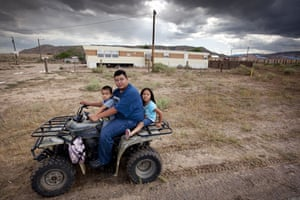 Route 66 Day 3: American Indian children in Tohatchi, Navajo Indian Reservation