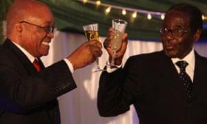 Jacob Zuma and Robert Mugabe