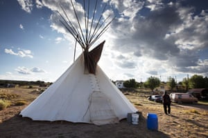 Route 66 Day 3: An American Indian teepee, St Michaels, Navajo Indian Reservation, Arizona