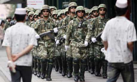 China urumqi uighur xinjiang police