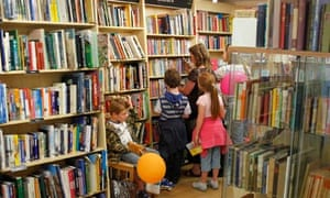 A family in Salisbury's large Oxfam bookshop yesterday