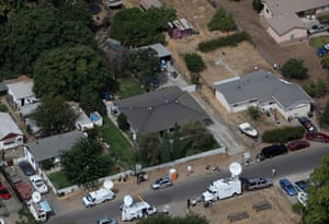 Jaycee Dugard kidnapping: Television trucks sit in front of the home of Phillip Garrido