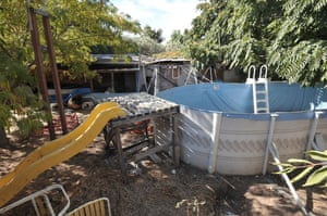 Jaycee Dugard kidnapping: A swimming pool in the back garden of the house where Jaycee Dugard lived