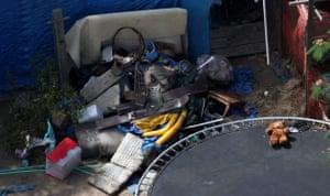 Jaycee Dugard kidnapping: Children's toys sit amongst debris in the backyard of Phillip Garrido