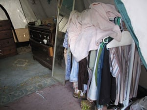 Jaycee Dugard kidnapping: Clothes stored on rails in the tent
