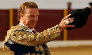 Frank Evans, English matador, during a bullfight in Spain