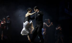 24 hours in pictures: Buenos Aires, Argentina: Hiroshi Yamao and Kyoko Yamao dance the tango