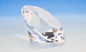 Large white diamond