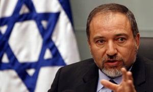 Israel's foreign minister Avigdor Lieberman