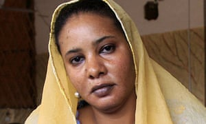 Lubna Hussein at the cafe in Khartoum where she was arrested for wearing trousers.