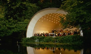 Classical music concert performed outdoors at Kenwood House, London