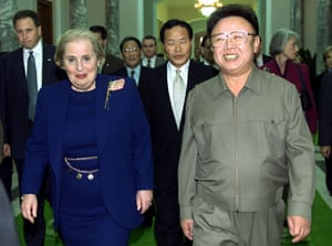 Korea and the US: Kim Jong Il and US Secretary of State Madeleine Albright