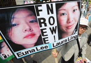 Korea and the US: American journalists Euna Lee and Laura Ling seized in north Korea