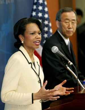 Korea and the US: 2005: US Secretary of State Condoleezza Rice speaks about North Korea
