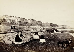 Points of View book: Hastings from the beach - low water, c.1864