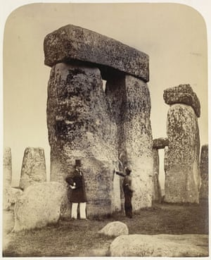 Points of View book: Trilithons B and C from the south-west, Stonehenge, c.1867
