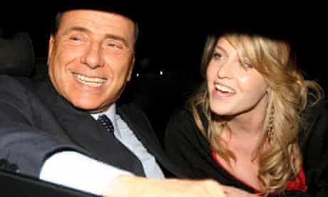 Silvio Berlusconi with his daughter Barbara Berlusconi in May 2006