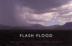 Text and art: Richard Long, Flash Flood, 2004