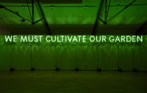 Text and art: Nathan Coley, We Must Cultivate Our Garden, 2007