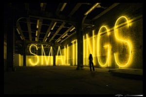 Text and art: Martin Creed, Work No 755: SMALL THINGS, 2007