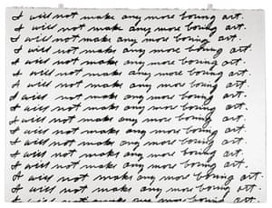 Text and art: John Baldessari, I Will Not Make Any More Boring Art, 1971