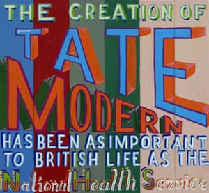 Text and art: Signwriters paint on board, Bob and Roberta Smith, Tate Modern, 2008