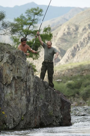 Putin on vacation: Russia's Prime Minister Vladimir Putin fishes in southern Siberia