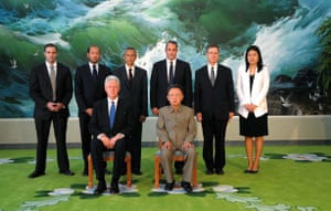 clinton in north korea : Kim Jong-il meets Bill Clinton