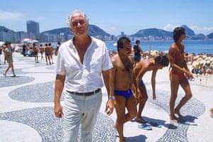 Biggs: Biggs, pictured in 1985, on a Rio beach