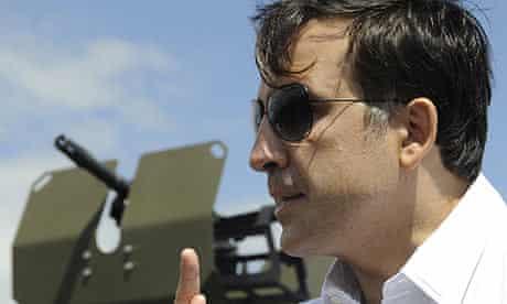Mikheil Saakashvili, the Georgian president