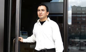 Joel Tenenbaum leaves court on 30 July 2009