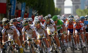 Bike blog: The pack of ridersThe pack of riders cycles during the final stage of the Tour de France