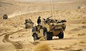 British Army Jackals on patrol in Afghanistan