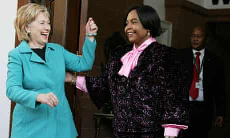 Hillary Clinton in South Africa