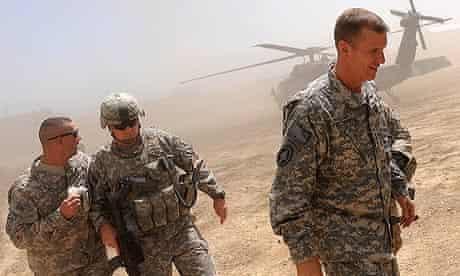 General Stanley McChrystal in Afghanistan