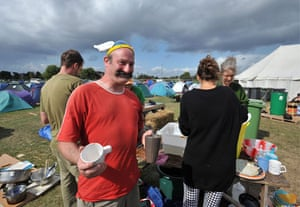 Climate camp: 28 August: Environmental protesters gather near London's Greenwich Park