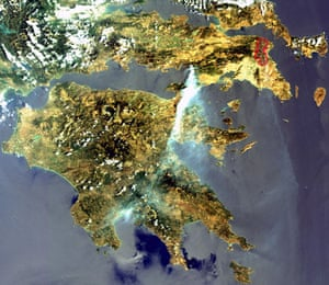 Satellite Eye on Earth: Fires Greece