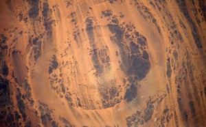 Satellite Eye on Earth: Aorounga Impact Crater, Sahara Desert, in north-central Chad